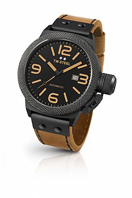 CANTEEN AUTOMATIC Black Dial 50 MM Brown Leather
