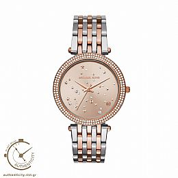 Darci Crystals Two Tone Stainless Steel Watch