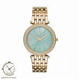 Darci Blue Green Mother of Pearl Dial Gold-tone Stainless Steel Watch