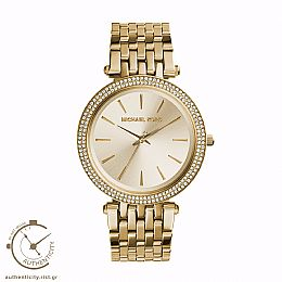 Darci Crystals Yellow Gold-Tone Watch