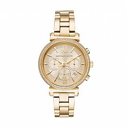 Sofie Gold Tone Stainless Steel Chronograph