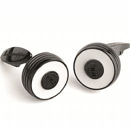 PIACERE CUFFLINKS, BLACK & WHITE